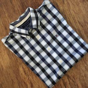 Tommy Hilfiger Button Down Plaid Shirt Size XXL